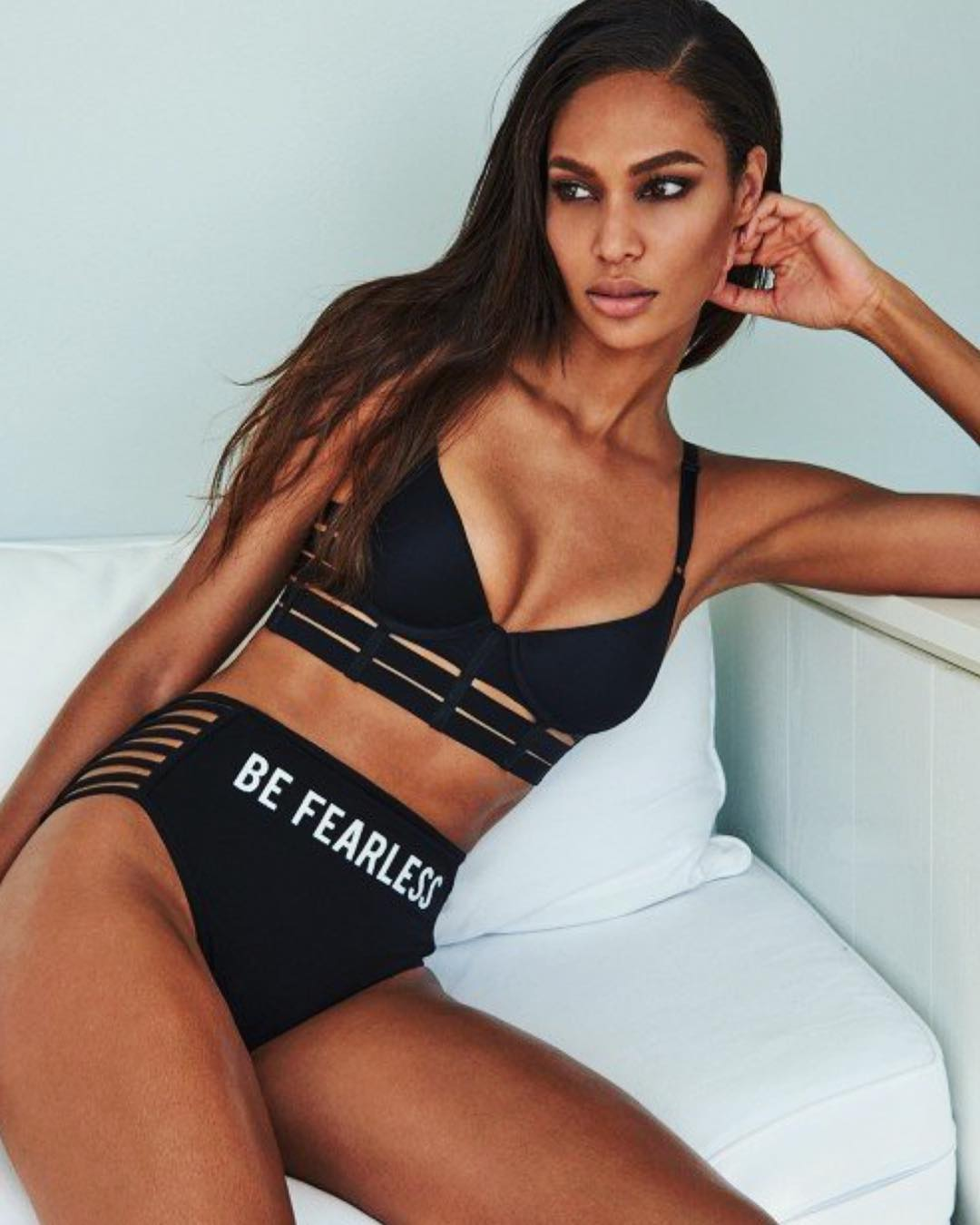 Joan Smalls is a model that appeared in Marc Anthony Will Smith Bad Bunny Esta Rico